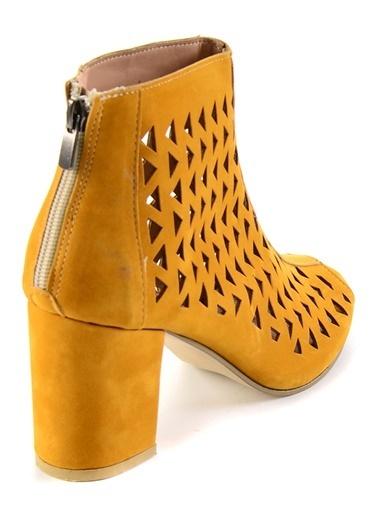 Bambi Topuklu Ayakkabı Hardal
